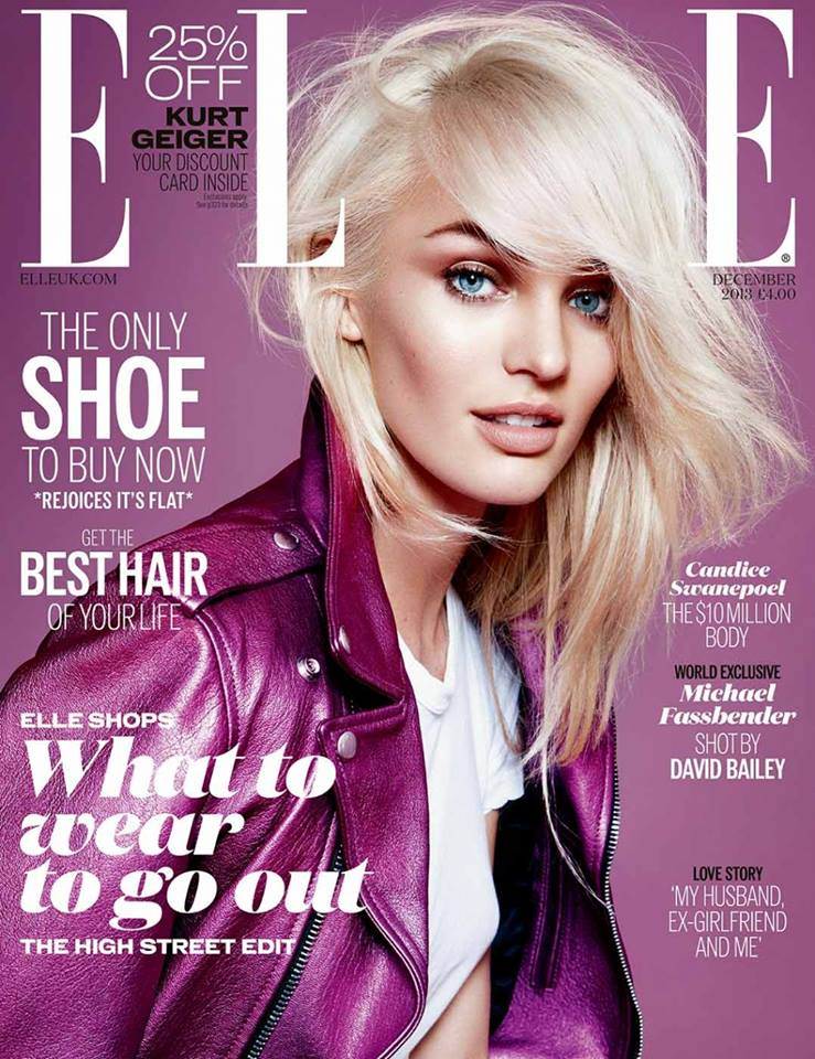 Candice Swanepoel Covers Elle UK December 2013 ...