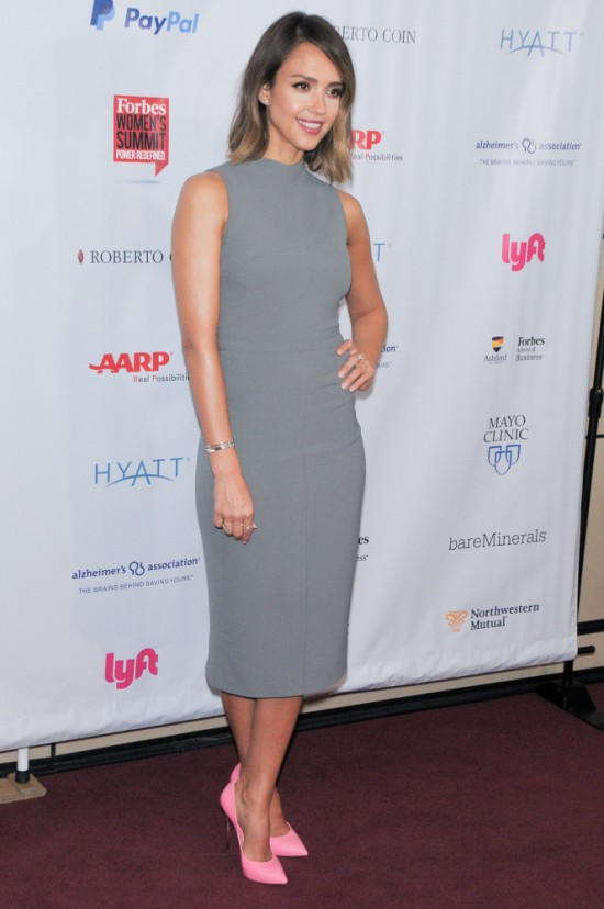 0-Jessica-Albas-2015-Forbes-Womens-Summit-Narciso-Rodriguez-Fall-2015-Gray-Scuba-Crepe-Dress-664x1000