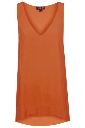 Orange Blouse Topshop