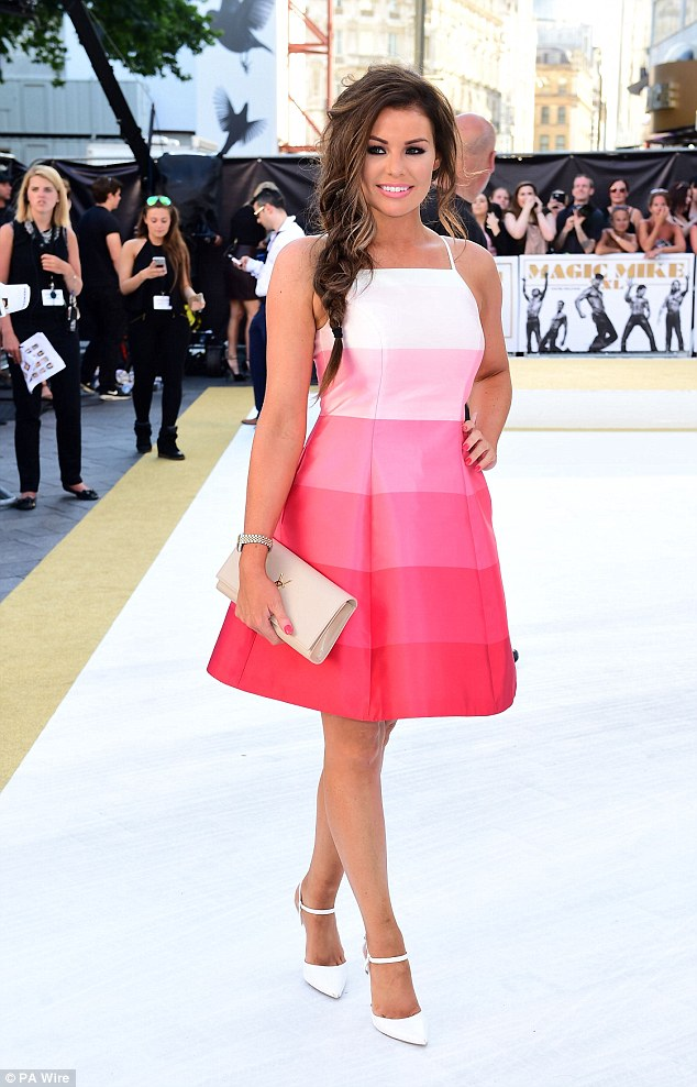 Celebrity Fashion: Jessica Wright Wearing A Fuchsia Pink ...
