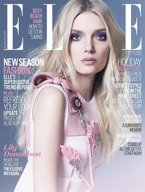 Lily Donaldson Covers Elle Magazine Uk August 2015