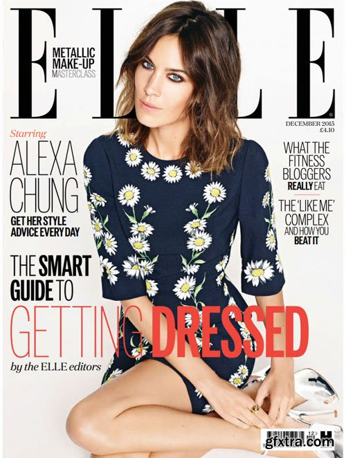 Alexa Chung Covers Elle Uk December 2015