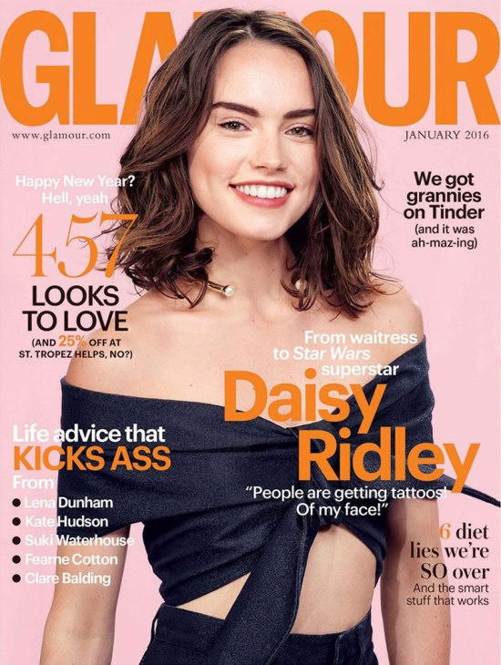 Daisy-Ridley-Glamour-UK-January-2016-Cover