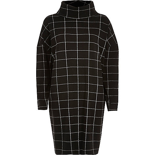 river-island-black-black-check-cowl-neck-ovoid-dress-product-4-855551310-normal