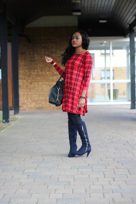 OOTD A Tartan Dress