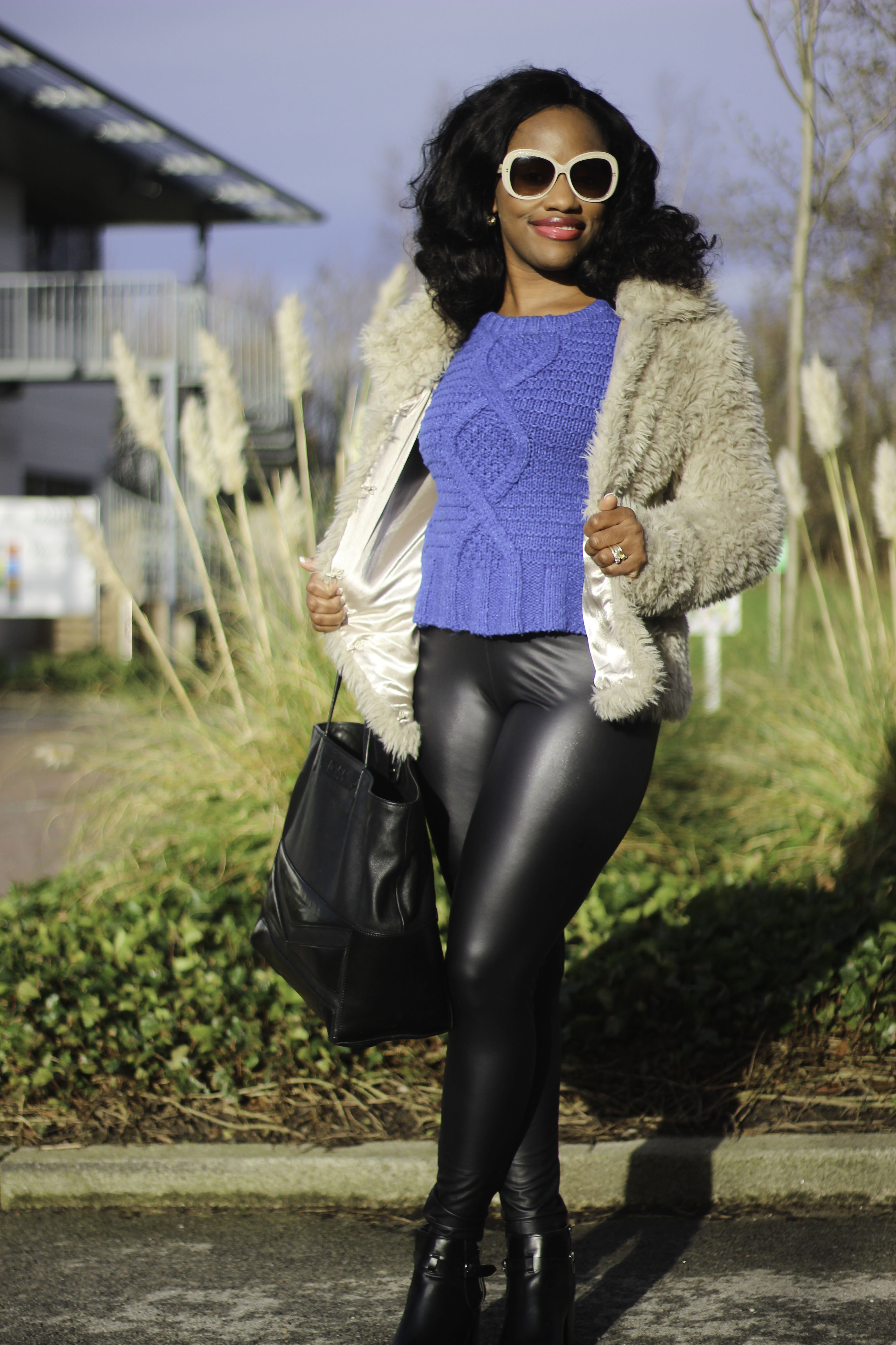 how to wear leather leggings with boots
