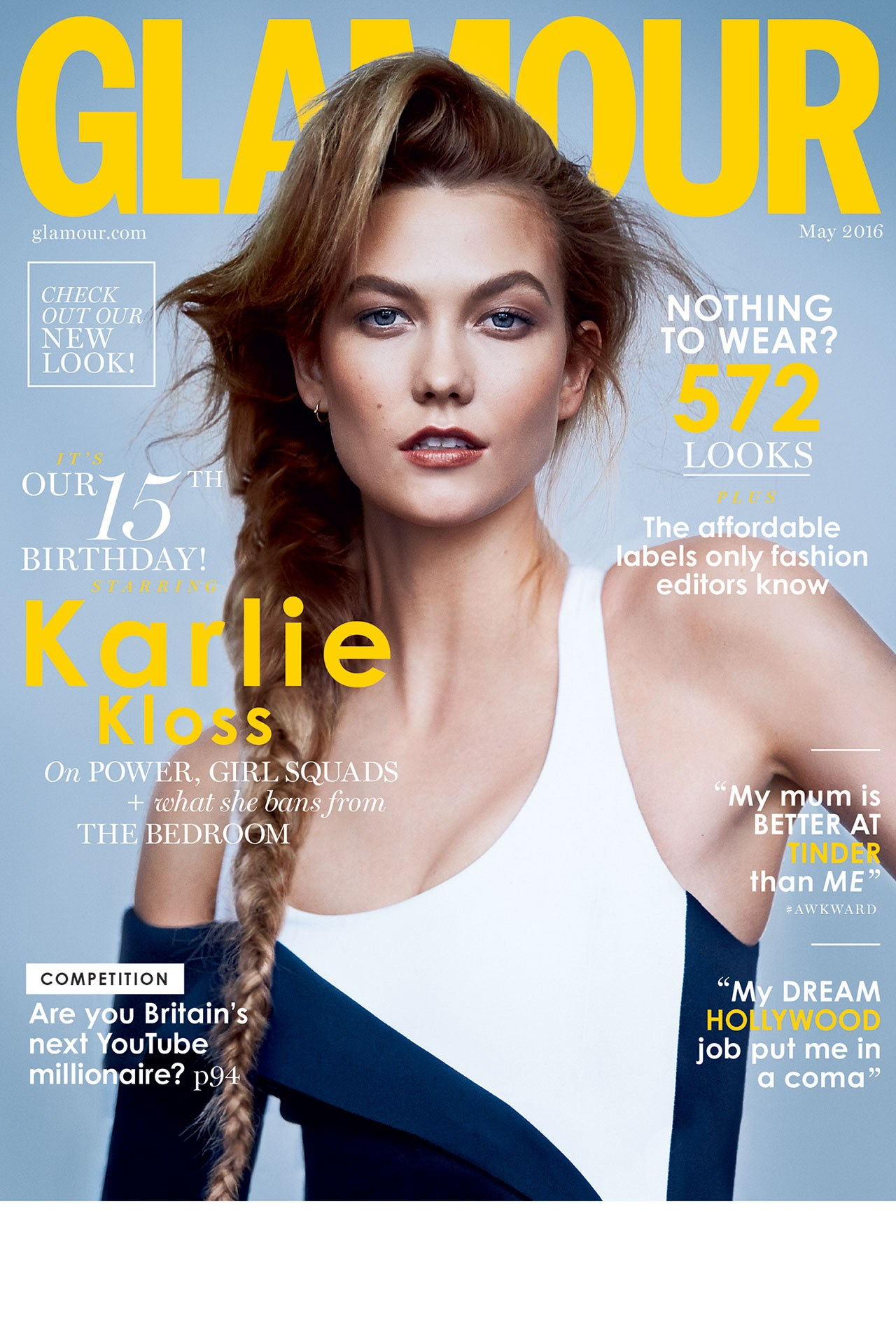 Karlie Kloss Covers Glamour Magazine May 2016 Fashionandstylepolice