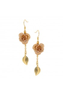 white-glazed-rose-earrings-24k-gold-leaf-style