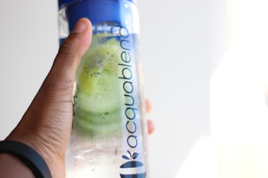 Aquablend Blue Water Bottle Image