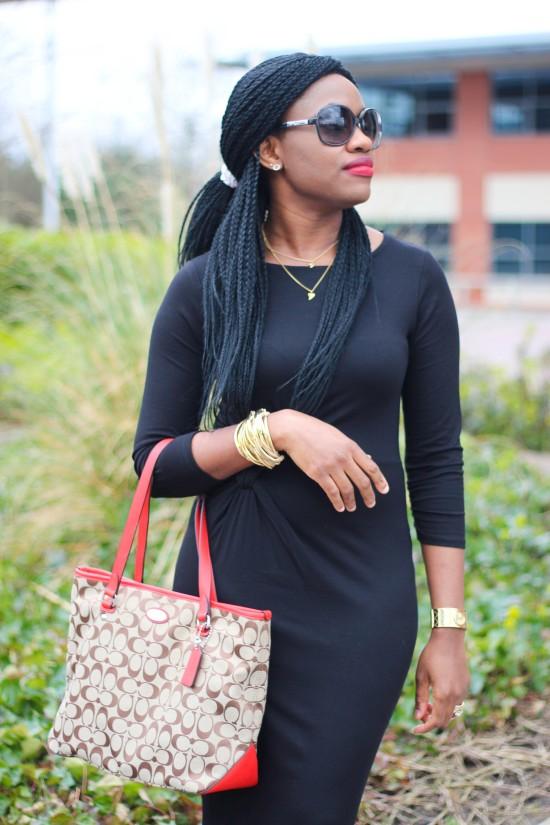 Midi Black Dress Image
