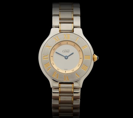 Must-de-Cartier-30mm-Stainless-Steel-18k-Yellow-Gold-1330