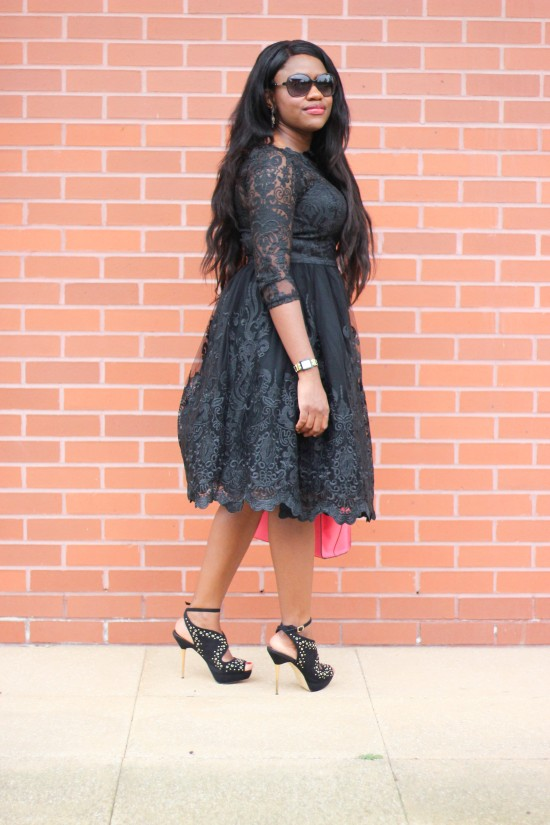 Black Lace Dress Image