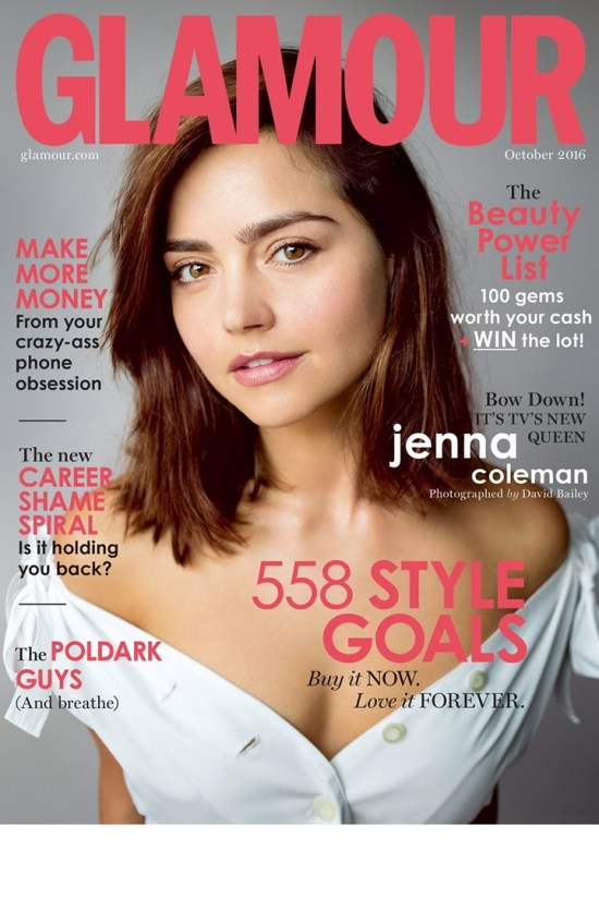 Jenna Coleman Covers Glamour Uk October 2016