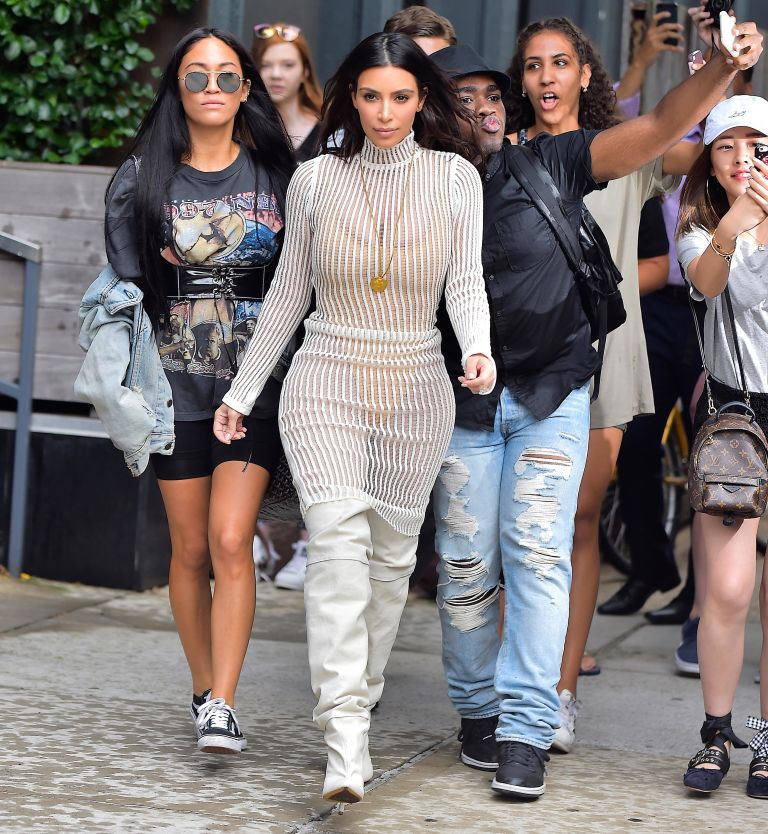 November - Kardashian and her sisters launched the 'Kardashian Kollection' - a collection of clothes with Lipsy - as well as launching a line of cosmetics, 'Khroma Beauty'.