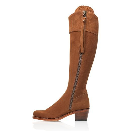 fairfax-and-favor-ladies-heeled-regina-suede-boot-tan-image