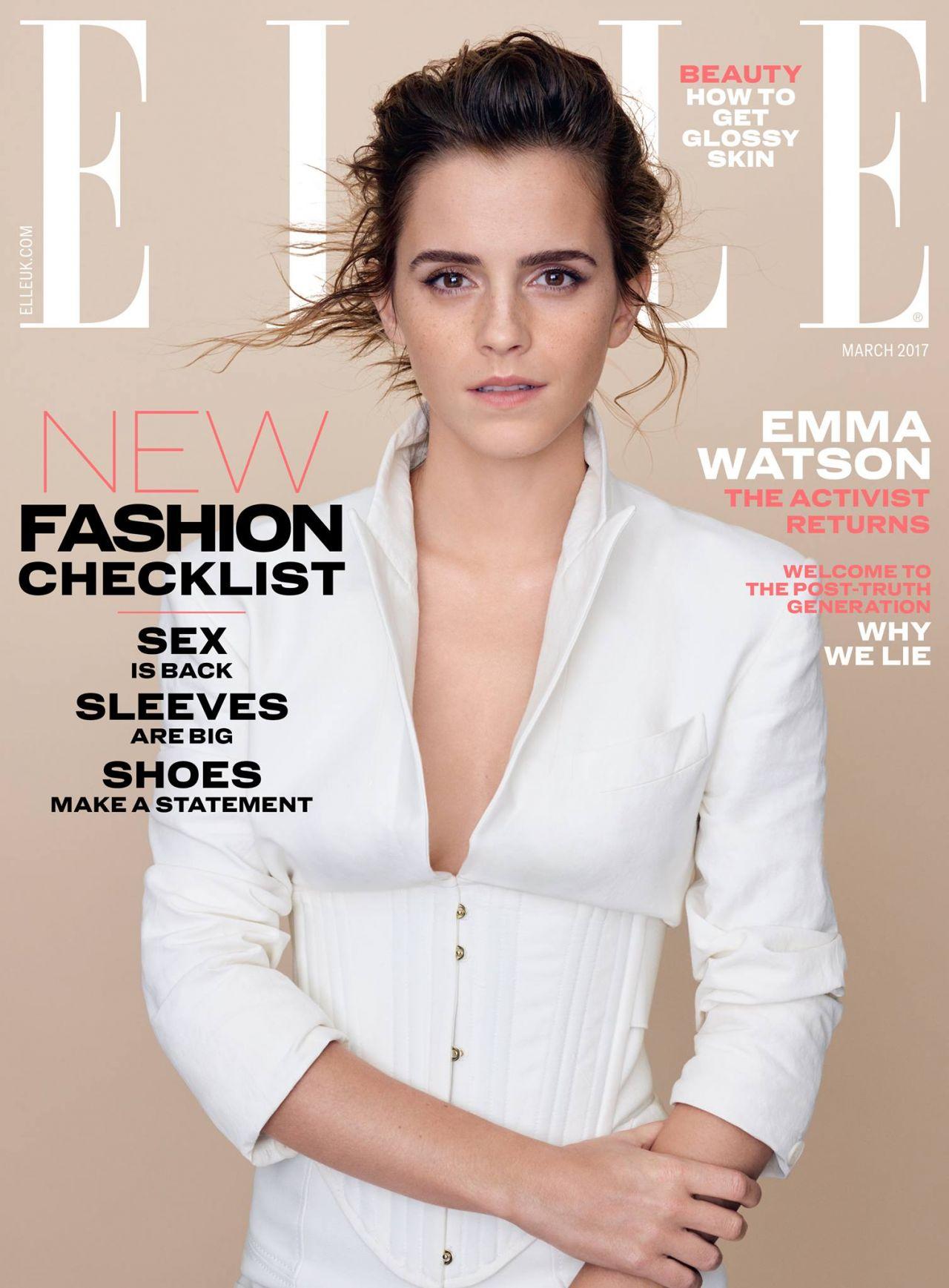 Emma Watson Covers ELLE UK Magazine March 2017 ...