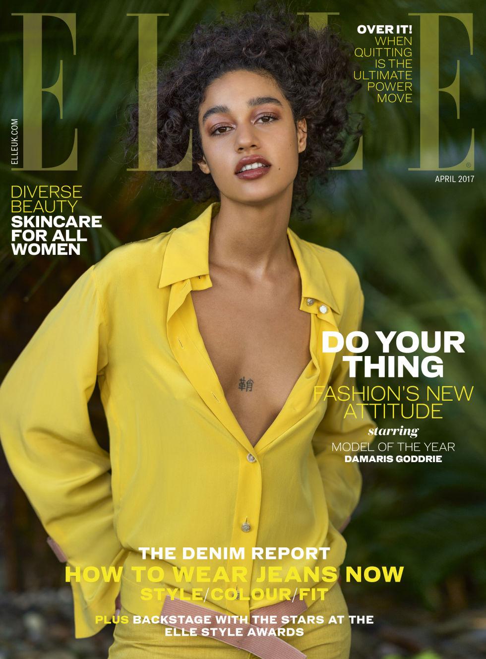 Damaris Goddrie Covers Elle Uk April 2017