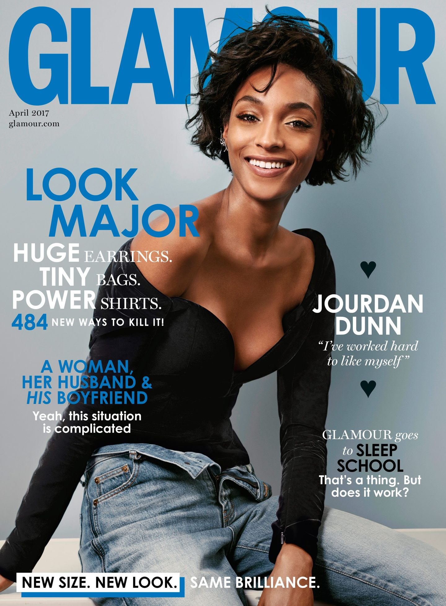 Jourdan Dunn Covers Glamour Magazine Uk April 2017 Fashionandstylepolice Fashionandstylepolice