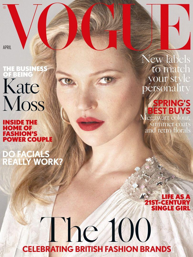 Vogue Magazine Subscription: Kate Moss Covers British Vogue April 2017