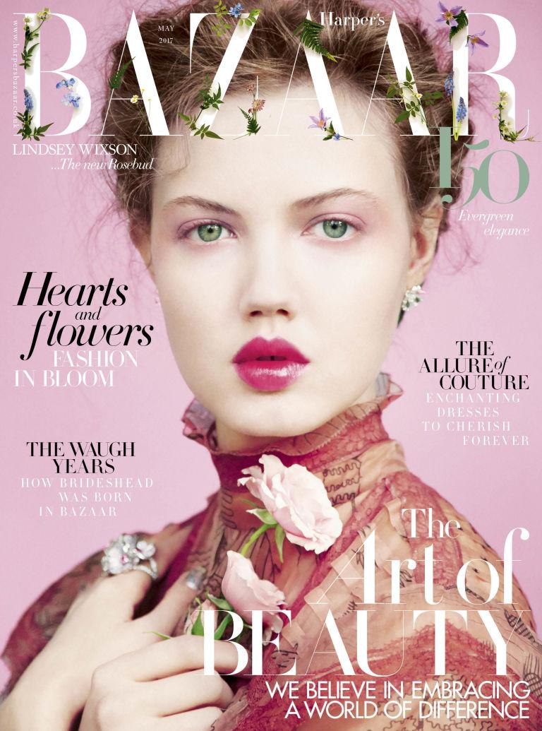 Lindsey Wixson Covers Harper's Bazaar UK May 2017 ...