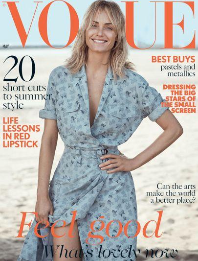Amber Valletta Covers British Vogue May 2017 ...
