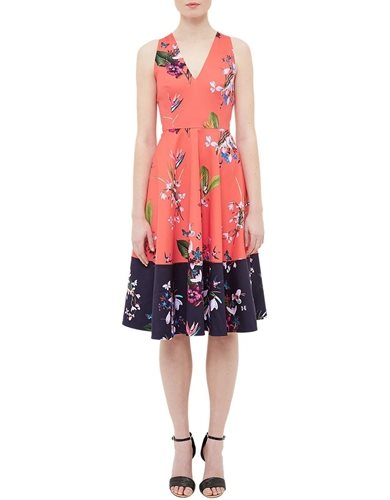 Ted Baker Esselle Tropical Oasis Dress, Mid Red Image