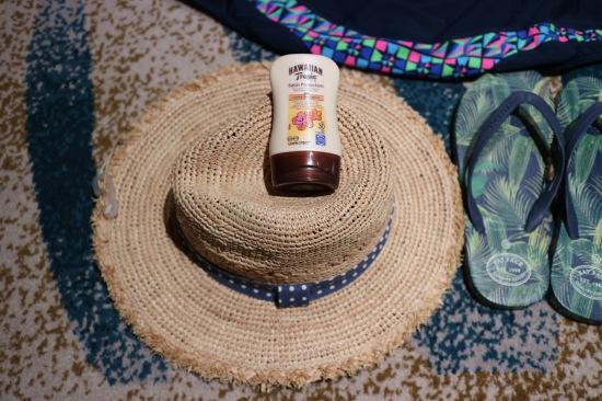 Summer Hat and Suncream Image